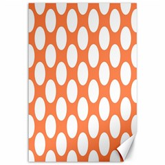Orange Polkadot Canvas 12  x 18  (Unframed)