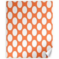 Orange Polkadot Canvas 16  X 20  (unframed)