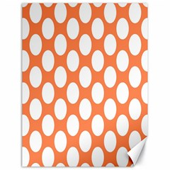 Orange Polkadot Canvas 18  X 24  (unframed)