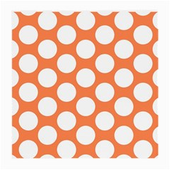 Orange Polkadot Glasses Cloth (Medium, Two Sided)