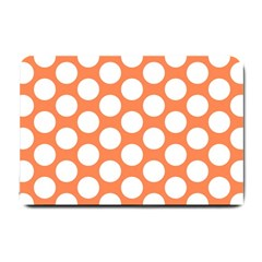 Orange Polkadot Small Door Mat