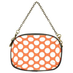 Orange Polkadot Chain Purse (One Side)