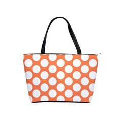 Orange Polkadot Large Shoulder Bag
