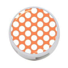Orange Polkadot 4 Port Usb Hub (one Side)