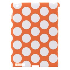 Orange Polkadot Apple iPad 3/4 Hardshell Case (Compatible with Smart Cover)