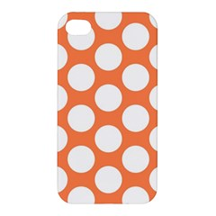 Orange Polkadot Apple Iphone 4/4s Premium Hardshell Case