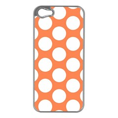 Orange Polkadot Apple Iphone 5 Case (silver)