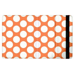 Orange Polkadot Apple iPad 3/4 Flip Case