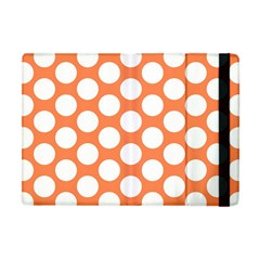 Orange Polkadot Apple Ipad Mini Flip Case