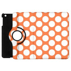 Orange Polkadot Apple iPad Mini Flip 360 Case