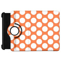 Orange Polkadot Kindle Fire HD 7  (1st Gen) Flip 360 Case