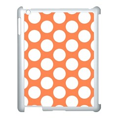 Orange Polkadot Apple iPad 3/4 Case (White)
