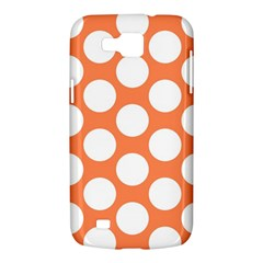 Orange Polkadot Samsung Galaxy Premier I9260 Hardshell Case