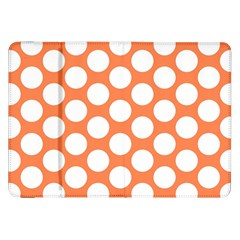 Orange Polkadot Samsung Galaxy Tab 8.9  P7300 Flip Case
