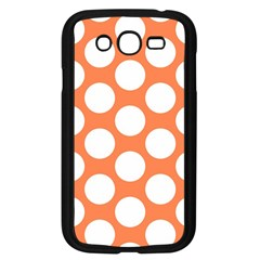 Orange Polkadot Samsung Galaxy Grand DUOS I9082 Case (Black)