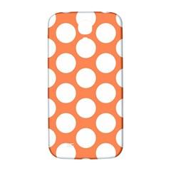 Orange Polkadot Samsung Galaxy S4 I9500/i9505  Hardshell Back Case