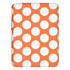Orange Polkadot Samsung Galaxy Tab 3 (10.1 ) P5200 Hardshell Case