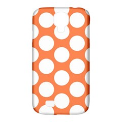 Orange Polkadot Samsung Galaxy S4 Classic Hardshell Case (PC+Silicone)
