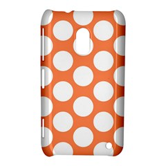 Orange Polkadot Nokia Lumia 620 Hardshell Case