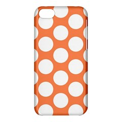 Orange Polkadot Apple iPhone 5C Hardshell Case