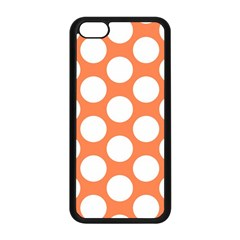 Orange Polkadot Apple iPhone 5C Seamless Case (Black)