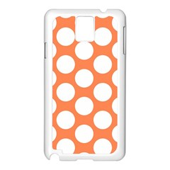 Orange Polkadot Samsung Galaxy Note 3 N9005 Case (White)