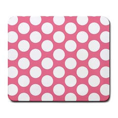 Pink Polkadot Large Mouse Pad (rectangle)