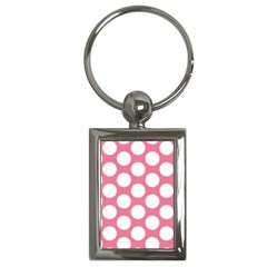 Pink Polkadot Key Chain (Rectangle)
