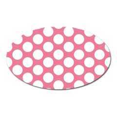 Pink Polkadot Magnet (Oval)