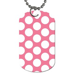 Pink Polkadot Dog Tag (one Sided)