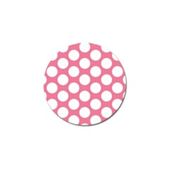 Pink Polkadot Golf Ball Marker 10 Pack