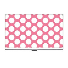 Pink Polkadot Business Card Holder