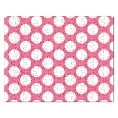 Pink Polkadot Jigsaw Puzzle (rectangle)