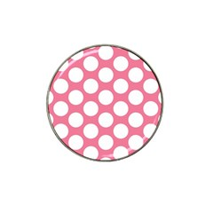 Pink Polkadot Golf Ball Marker 4 Pack (for Hat Clip)