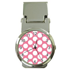 Pink Polkadot Money Clip with Watch