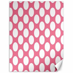 Pink Polkadot Canvas 12  x 16  (Unframed)