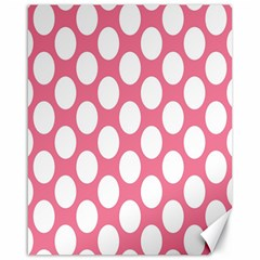 Pink Polkadot Canvas 16  x 20  (Unframed)