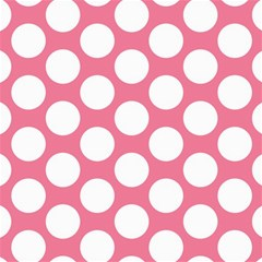 Pink Polkadot Canvas 20  x 20  (Unframed)