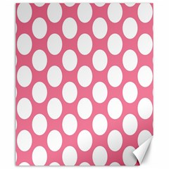 Pink Polkadot Canvas 20  X 24  (unframed)