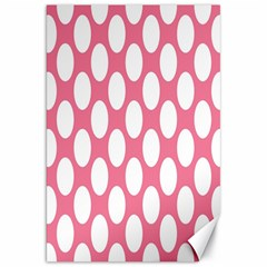 Pink Polkadot Canvas 20  X 30  (unframed)