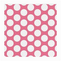 Pink Polkadot Glasses Cloth (Medium, Two Sided)