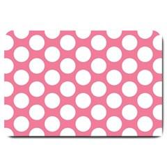 Pink Polkadot Large Door Mat