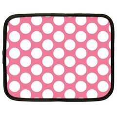 Pink Polkadot Netbook Sleeve (large)