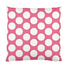 Pink Polkadot Cushion Case (Two Sided)