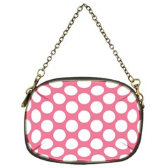 Pink Polkadot Chain Purse (two Sided)