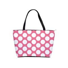 Pink Polkadot Large Shoulder Bag