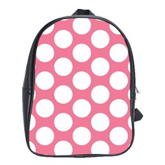 Pink Polkadot School Bag (large)