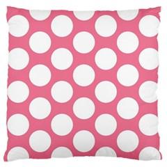 Pink Polkadot Large Cushion Case (single Sided)