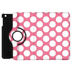 Pink Polkadot Apple Ipad Mini Flip 360 Case