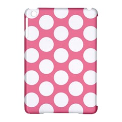 Pink Polkadot Apple iPad Mini Hardshell Case (Compatible with Smart Cover)